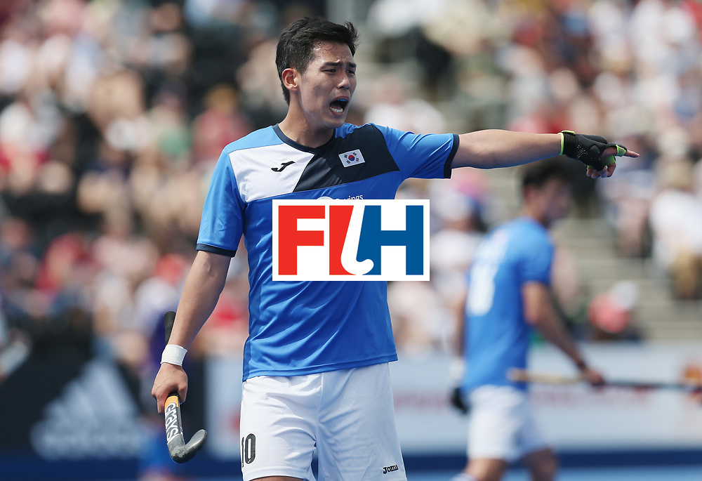 LONDON, ENGLAND - JUNE 17:  Junwoo Jeong of South Korea during the Hero Hockey World League semi final match between China and Korea at Lee Valley Hockey and Tennis Centre on June 17, 2017 in London, England.  (Photo by Alex Morton/Getty Images)