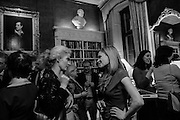 ANNA WEBBER; HERMIONE EYRE; , The Walter Scott Prize for Historical Fiction 2015 - The Duke of Buccleuch hosts party to for the shortlist announcement. <br /> The winner is announced at the Borders Book Festival in Scotland in June.John Murray's Historic Rooms, 50 Albemarle Street, London, 24 March 2015.