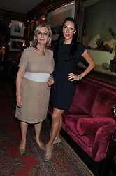 Left to right, NINA CAMPBELL and ALEX MEYERS at a lunch in aid of the charity Kids Company held at Mark's Club, 46 Charles Street, London on 3rd October 2011.