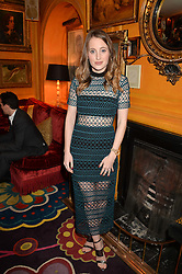 ROSIE FORTESCUE at the launch of GP Nutrition held at Annabel's, 44 Berkeley Square, London on 26th January 2016.