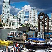 Vancouver pier..Vancouver, BC. Canada.