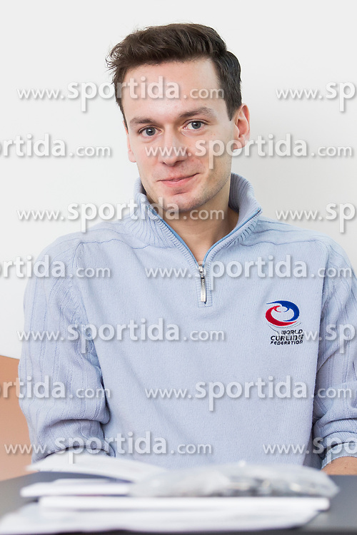 Paddy Kaser - representative World Curling Federation at press conference of Slovenian Curling Association before Olympic Celebration Tour in Zalog, on February 9, 2018 in Olympic center BTC, Ljubljana, Slovenia. Photo by Urban Urbanc / Sportida