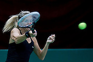 Klara Koukalova ( old name: Zakopalova ) from Czech Republic competes in WTA women's tennis tournament BNP Paribas Katowice Open 2014 at Spodek Hall in Katowice, Poland.<br /> <br /> Poland, Katowice, April 09, 2014<br /> <br /> Picture also available in RAW (NEF) or TIFF format on special request.<br /> <br /> For editorial use only. Any commercial or promotional use requires permission.<br /> <br /> Mandatory credit:<br /> Photo by © Adam Nurkiewicz / Mediasport