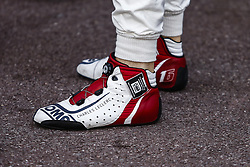 May 23, 2018 - Montecarlo, Monaco - 16 Charles Leclerc Monaco with Alfa Romeo Sauber F1 Team C37 OMP racing boots  during the Monaco Formula One Grand Prix  at Monaco on 23th of May, 2018 in Montecarlo, Monaco. (Credit Image: © Xavier Bonilla/NurPhoto via ZUMA Press)