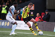 Harrogate Town midfielder Joe Leesley (11) during the Vanarama National League match between FC Halifax Town and Dover Athletic at the Shay, Halifax, United Kingdom on 17 November 2018.
