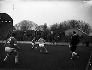 22/02/1961 <br /> 02/22/1961<br /> 22 February 1961<br /> Soccer, F.A.I. Cup 1st round replay: Limerick v Shamrock Rovers at Glenmalure Park, Milltown.