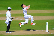 Hampshire bowler Ryan McLaren during the Specsavers County Champ Div 1 match between Hampshire County Cricket Club and Warwickshire County Cricket Club at the Ageas Bowl, Southampton, United Kingdom on 12 April 2016. Photo by Graham Hunt.
