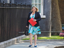 © Licensed to London News Pictures. 23/07/2019. London, UK. Secretary of State for Northern Ireland Karen Bradley arrives on Downing Street for the final Cabinet meeting under Prime Minister Theresa May. The result of the Conservative Party leadership contest will be announced this morning. Photo credit: Rob Pinney/LNP