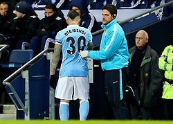 Nicolas Otamendi of Manchester City leaves the pitch with an injury  - Mandatory byline: Matt McNulty/JMP - 15/03/2016 - FOOTBALL - Etihad Stadium - Manchester, England - Manchester City v Dynamo Kyiv - Champions League - Round of 16
