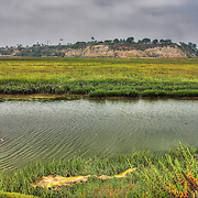 View across the back bay of Newport Beach