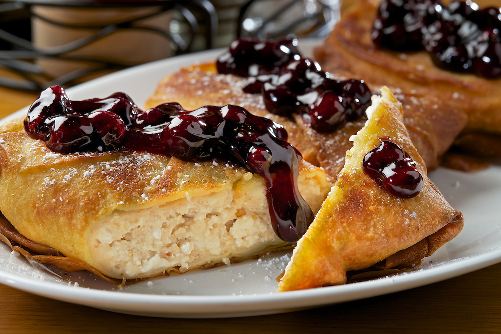 Carnegie Deli's Blueberry Blintz