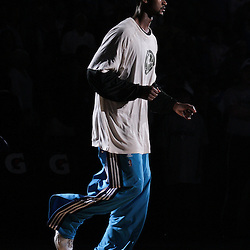 05 April 2009: New Orleans Hornets center Hilton Armstrong is introduced during a 108-94 loss by the New Orleans Hornets to the Utah Jazz at the New Orleans Arena in New Orleans, Louisiana.