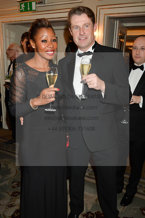 MR & MRS TONY SMURTHWAITE at the 24th Cartier Racing Awards held at The Dorchester, Park Lane, London on 11th November 2014.