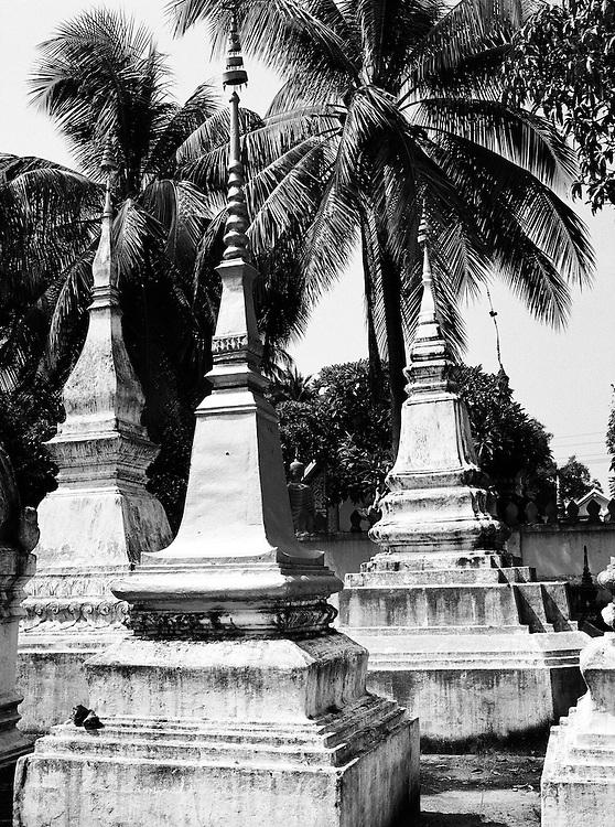 Stupas at Wat Xieng Muan.
