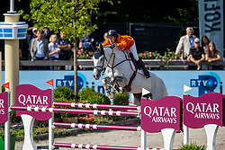 VAN DER VLEUTEN Maikel (NED), DANA BLUE<br /> Rotterdam - Europameisterschaft Dressur, Springen und Para-Dressur 2019<br /> Longines FEI Jumping European Championship - 1st part - speed competition against the clock<br /> 1. Runde Zeitspringen<br /> 21. August 2019<br /> © www.sportfotos-lafrentz.de/Stefan Lafrentz