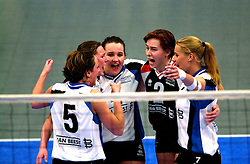 15-04-2001 VOLLEYBAL: ARKE POLLUX - SLIEDRECHT SPORT: DEN BOSCH<br /> Arke Pollux wint de bekerfinale met 3-2 / Patricia Labee, Bregje Brekelmans, Joyce Ruijgrok<br /> &copy;2001-WWW.FOTOHOOGENDOORN.NL