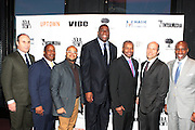 7 March 2011- New York, NY- l to r: Bob Miller, Eric Hollerman, Brett Wright, Irving Johnson, Kenard Gibbs, Len Burnett at the Power of Urban Presentation and Reception hosted by Magic Johnson and Yucaipa and held at the Empire Penthouse on March 7, 2011 in New York City. Photo Credit: Terrence Jennings/Photo Credit: Terrence Jennings for Uptown Magazine