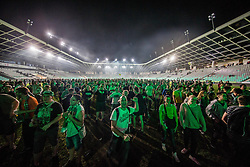 Supporters of Olimpija listening to the music group Big Foot Mama after winning during football match between NK Aluminij and NK Olimpija Ljubljana in the Final of Slovenian Football Cup 2017/18, on May 30, 2018 in SRC Stozice, Ljubljana, Slovenia. Photo by Vid Ponikvar / Sportida