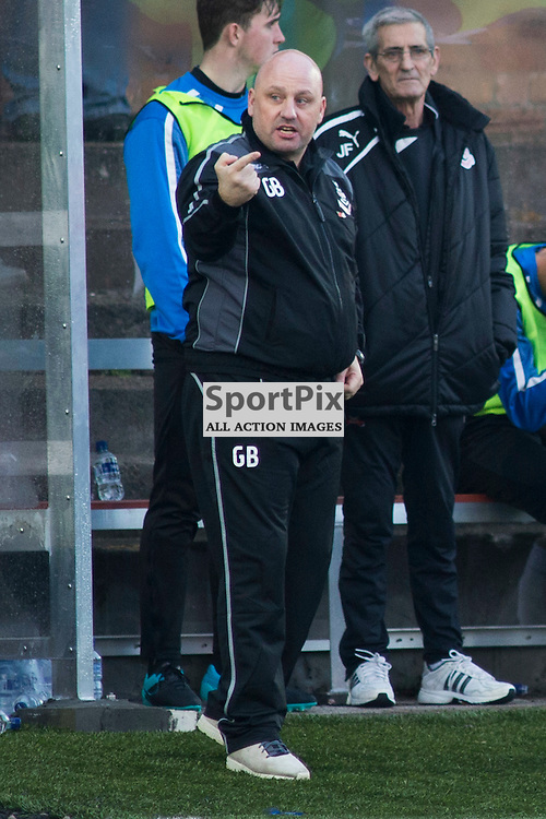 Gary Bollan in the Forfar Athletic v Airdrie Station Park, Forfar, 07 November 2015<br />