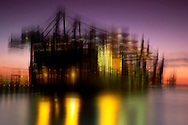 Blurry Sky Fine Art Series - HHLA Container Terminal in Hamburg