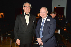 Left to right, ANTHONY BROWNE and STEPHEN WATSON Chairman of Tusk at a lecture featuring Don McCullin talking on War and Peace with Kate Silverton in aid of TUSK at Christie's, 8 King Street, London on 9th December 2015.