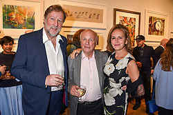 Left to right, Rupert Gavin, Greg Dyke and Caroline Michel at The Philanthropist After Party held at The Mall Galleries, 17 Carlton House Terrace, London England. 20 April 2017.