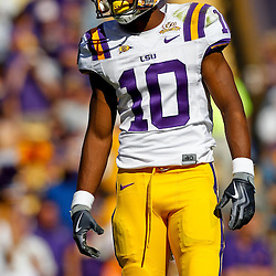Oct 2, 2010; Baton Rouge, LA, USA; LSU Tigers wide receiver Russell Shepard (10) during the first half against the Tennessee Volunteers at Tiger Stadium.  Mandatory Credit: Derick E. Hingle