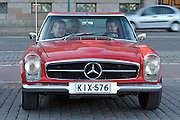 "During summer from June to Septemper, every first Friday of the month is Vintage Car Cruising Night. Hundreds of classic American cars cruise around downtown Helsinki and meet at special places to have a good time, here at Kauppatori (Market Square). European Classics are also welcome, here a Mercedes-Benz SL ""Pagoda""."