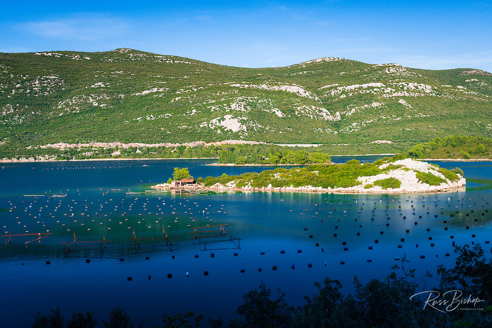 Fishing buoys in the Adratic near Ston, Dalmatian Coast, Croatia