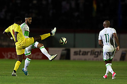 June 6, 2017 - Blida, Algiers, Algeria - Diallo Abedulaye Sadia (L) of Guinea and Ghoulam Faouzi (R) of Algeria  during their friendly international football match between Algeria and Guinée the Mustapha Tchaker stadium in Blida on June 06, 2017. (Credit Image: © Billal Bensalem/NurPhoto via ZUMA Press)
