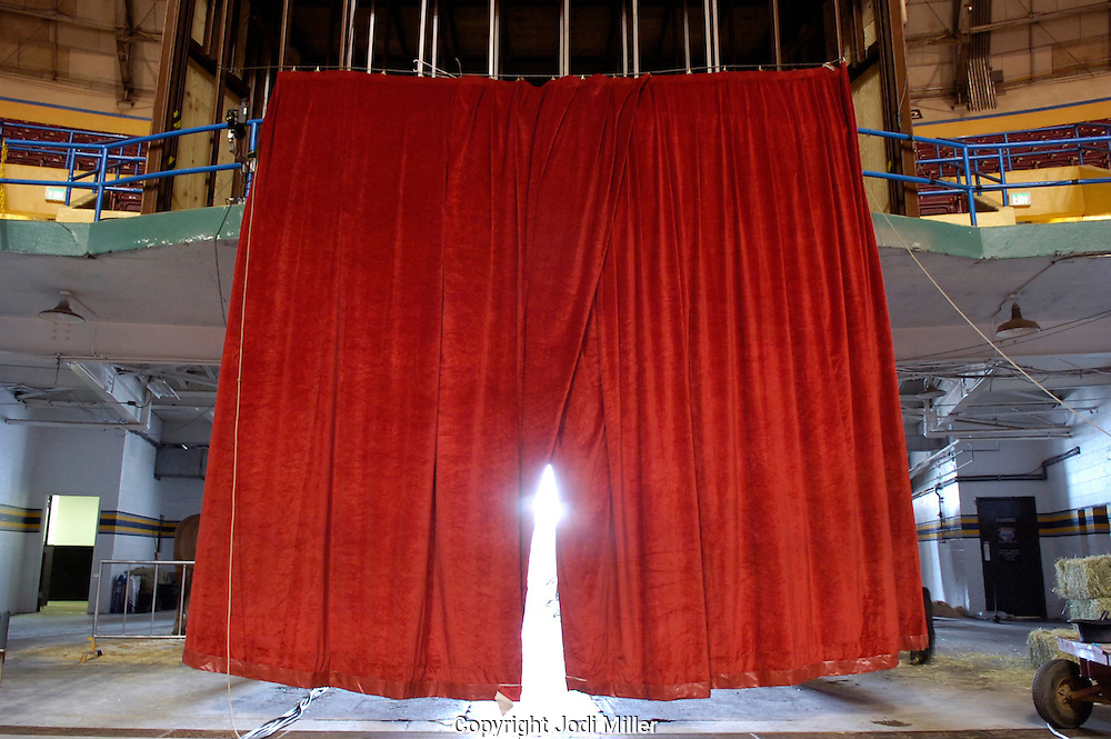 Red curtain at the circus.