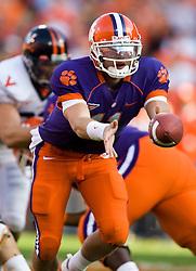 November 21, 2009; Clemson, SC, USA;  Clemson Tigers quarterback Kyle Parker (11) during the second quarter against the Virginia Cavaliers at Memorial Stadium.  Clemson defeated Virginia 34-21.