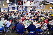 "Sept. 27 - PHOENIX, AZ: Lunch at the Society of St. Vincent de Paul in Phoenix, Monday, Sept 27. September 27, 2010 is the 350th Feast Day of Saint Vincent de Paul, also known as the ""Apostle of Charity."" To mark the day, the Society of St. Vincent de Paul in Phoenix served birthday cake during the lunch service. The US Census office recently announced that poverty in the US has spiked to 14.3% of the population, the highest poverty rate since 1994. Officials at St. Vincent de Paul in Phoenix said that demand for their services have increased steadily in the last three years. They currently feed about 1,100 people, either homeless or members of the working poor, every day.    Photo by Jack Kurtz"