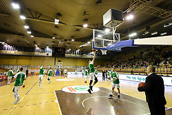 Players prior to basketball match between KK Petrol Olimpija and KK Krka Novo mesto at Superpokal 2017, on September 28, 2017 in Hala Tivoli, Ljubljana, Slovenia. Photo by Matic Klansek Velej / Sportida.com