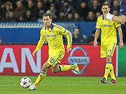 Chelsea's Eden Hazard during the Champions League match between Paris Saint-Germain and Chelsea at Parc des Princes, Paris, France on 17 February 2015. Photo by Phil Duncan.