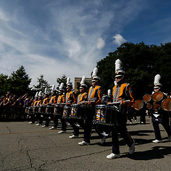 Sep 8, 2018; Baton Rouge, LA, USA; The LSU Tigers band marches down Victory Hill before a game against the Southeastern Louisiana Lions at Tiger Stadium. Mandatory Credit: Derick E. Hingle-USA TODAY Sports