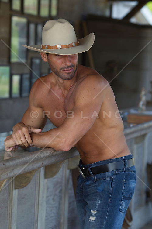 sexy shirtless cowboy