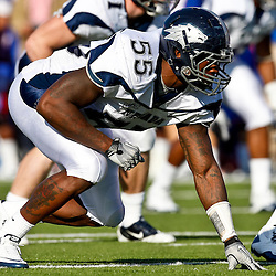 December 4, 2010; Ruston, LA, USA; Nevada Wolf Pack defensive end Dontay Moch (55) against the Louisiana Tech Bulldogs during the first half at Joe Aillet Stadium.  Mandatory Credit: Derick E. Hingle
