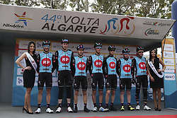 February 14, 2018 - Lagos, Portugal - Radio Popular-Boavista before the 1st stage of the cycling Tour of Algarve between Albufeira and Lagos, on February 14, 2018. (Credit Image: © Str/NurPhoto via ZUMA Press)