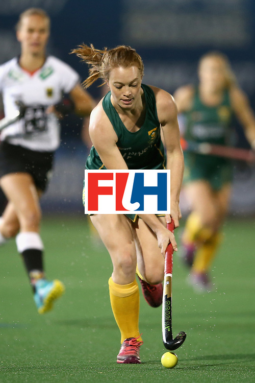 JOHANNESBURG, SOUTH AFRICA - JULY 18: Tarryn Glasby of South Africa in action during the Quarter Final match between Germany and South Africa during the FIH Hockey World League - Women's Semi Finals on July 18, 2017 in Johannesburg, South Africa.  (Photo by Jan Kruger/Getty Images for FIH)