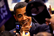 Presidential hopeful Barak Obama (D) holds speach at the St Pete Times Forum in St. Petersburg / Tampa.