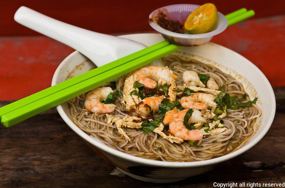 Sarawak style laksa, Kuching, Malaysia
