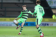 Forest Green Rovers Mark Roberts(21) clears the ball during the EFL Trophy 3rd round match between Yeovil Town and Forest Green Rovers at Huish Park, Yeovil, England on 9 January 2018. Photo by Shane Healey.