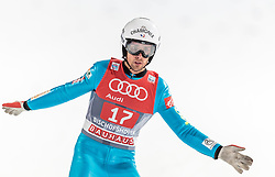 06.01.2016, Paul Ausserleitner Schanze, Bischofshofen, AUT, FIS Weltcup Ski Sprung, Vierschanzentournee, Bischofshofen, Finale, im Bild Vincent Descombes Sevoie (FRA) // Vincent Descombes Sevoie of France reacts after his 1st round jump of the Four Hills Tournament of FIS Ski Jumping World Cup at the Paul Ausserleitner Schanze in Bischofshofen, Austria on 2016/01/06. EXPA Pictures © 2016, PhotoCredit: EXPA/ JFK