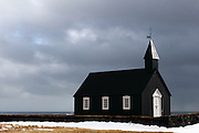 The beautiful little Búðir Church, on the Snaefellsnes Peninsular in Western Iceland