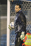 David Forde of Millwall warms up before the Sky Bet Championship match at The Den, London<br /> Picture by David Horn/Focus Images Ltd +44 7545 970036<br /> 17/03/2015