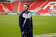 AFC Wimbledon defender Callum Kennedy (23)  inspects the pitch prior to  the EFL Sky Bet League 1 match between Rotherham United and AFC Wimbledon at the AESSEAL New York Stadium, Rotherham, England on 3 February 2018. Picture by Simon Davies.