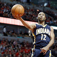 CHICAGO, IL - APR 18: A.J. Price #12 of the Indiana Pacers shoots the ball during game 2 of the Eastern Conference First Round at the United Center on April 18, 2011 in Chicago, IL. NOTE TO USER: User expressly acknowledges and agrees that, by downloading and or using this photograph, User is consenting to the terms and conditions of the Getty Images License Agreement. Mandatory Credit: 2011 NBAE (Photo by Chris Elise/NBAE via Getty Images)