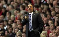 Photo: Paul Thomas.<br /> Liverpool v PSV Eindhoven. UEFA Champions League. Quarter Final, 2nd Leg. 11/04/2007.<br /> <br /> Rafael Benitez, Liverpool manager.