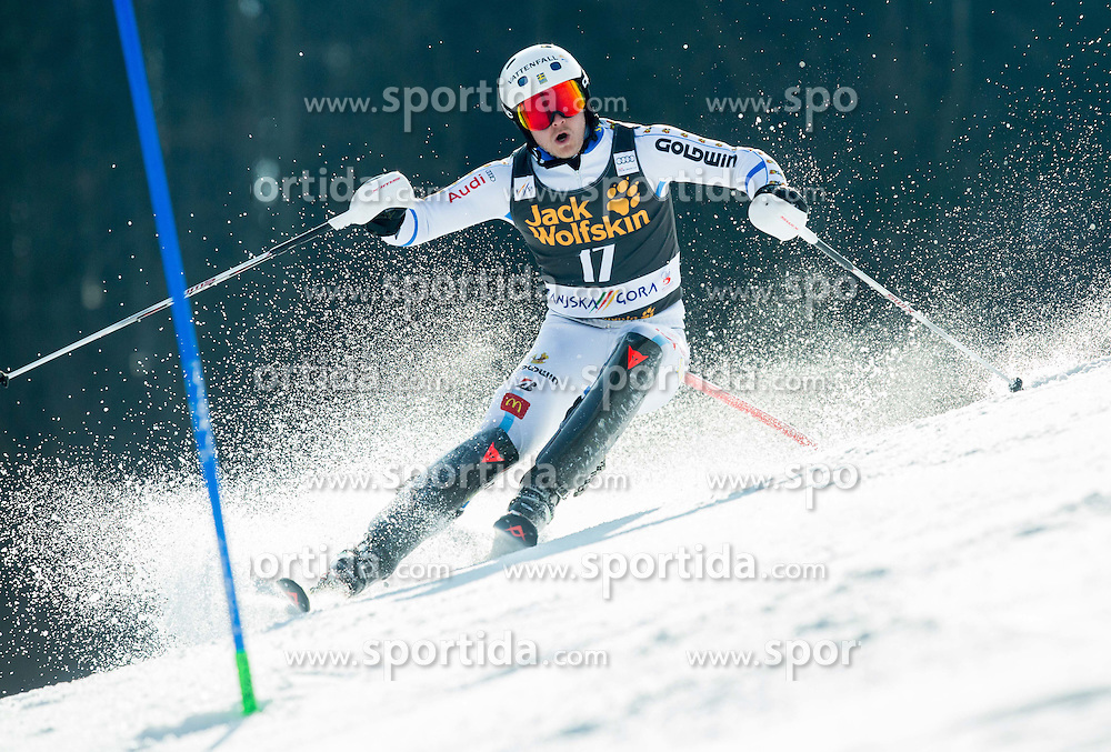 BYGGMARK Jens of Sweden competes during 1st Run of Men Slalom race of FIS Alpine Ski World Cup 54th Vitranc Cup 2015, on March 15, 2015 in Kranjska Gora, Slovenia. Photo by Vid Ponikvar / Sportida